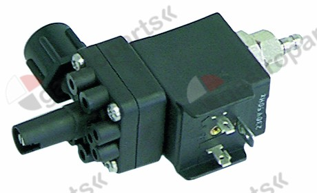 361.013, dosing pump inlet 4x6mm outlet 5mm 230V rinse aid duty cycle 25% type EKP-M 50Hz impulse 3imp/s