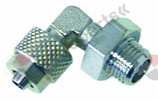 361.179, screw pipe fitting angled hose ø 4/6mm thread 1/4