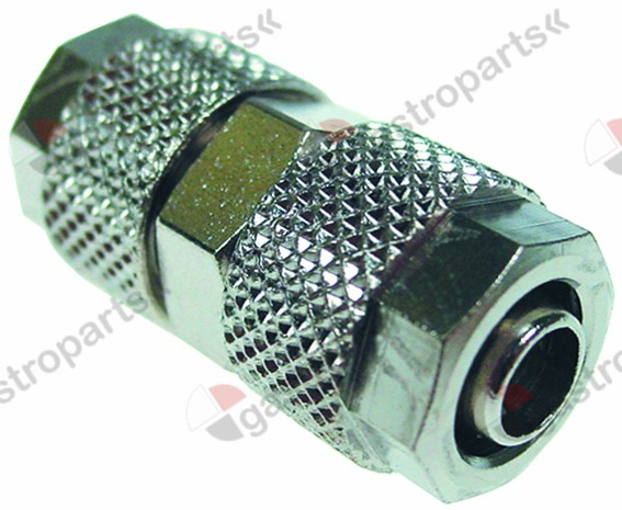 361.508, screw pipe fitting nickel-plated brass hose ø 6x8mm straight
