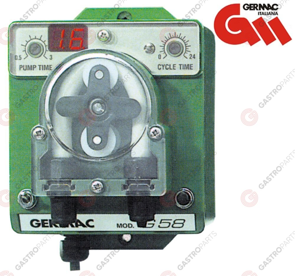 361.530, Dosing pump 3l/h for biodegradable barrel cleaner GERMAC type BIOMATIK G58 230V