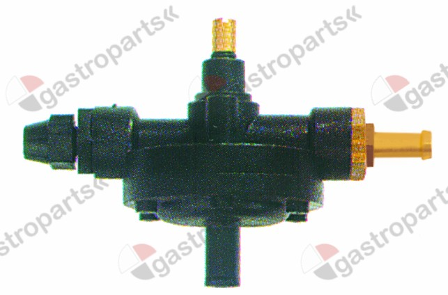 361.536, dosing pump type 2000 rinse aid inlet 4x6mm outlet 8mm suction connection ø 4x6mm