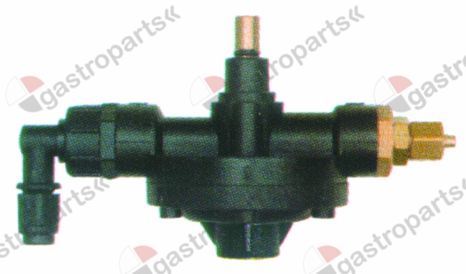 361.542, dosing pump type 2001 rinse aid inlet 4x6mm outlet M10x1 suction connection ø 4x6mm