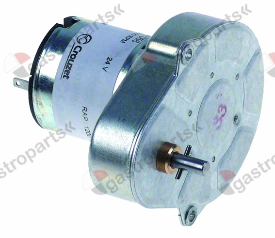 361.565, gear motor CROUZET type 82841056 24V voltage DC 4,2rpm shaft ø 4mm L 51mm W 66mm H 51mm