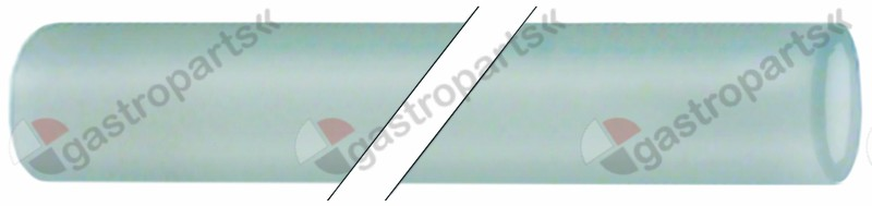361.609, silicone hose ID ø 5mm ED ø 8mm L 5m thickness 1,5mm