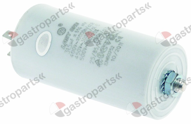 365.016, operating capacitor capacity 31,5µF 400V tolerance 5% ambient temperature max. -25 to +85°C