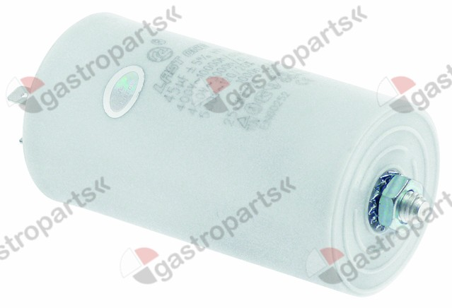 365.023, operating capacitor capacity 45µF 400V tolerance 5% 50/60Hz