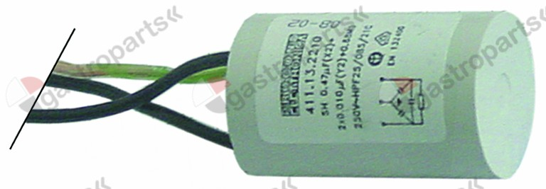 365.044, interference suppression filter type FC701Y2F 250V 50-60Hz conductor 2 with E connection cable 200mm