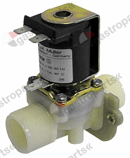 370.007, solenoid valve single straight 230V voltage AC inlet 3/4