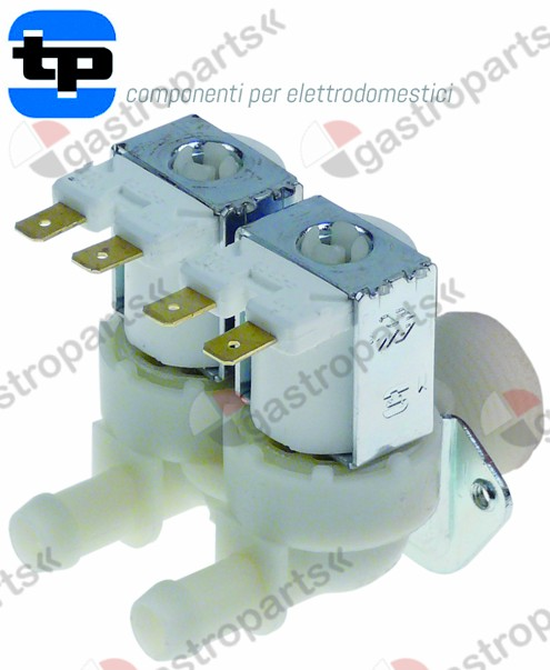 370.021, solenoid valve double straight 230V inlet 3/4