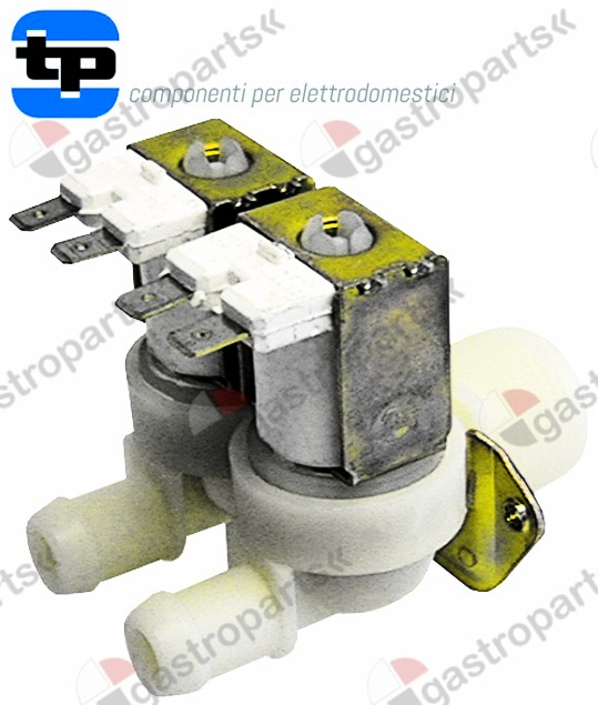 370.022, solenoid valve double straight 230V inlet 3/4