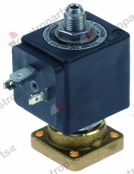 370.053, solenoid valve 3-ways 230 VAC DN 2,5mm slide-on receptacle DIN -10 up to 140°C