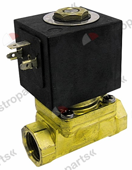 370.079, solenoid valve 2-ways 230 VAC connection 3/4