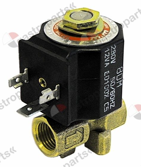 370.104, solenoid valve 2-ways 24VDC connection 1/4
