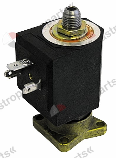370.106, No longer available / solenoid valve 3-ways with flange plate brass