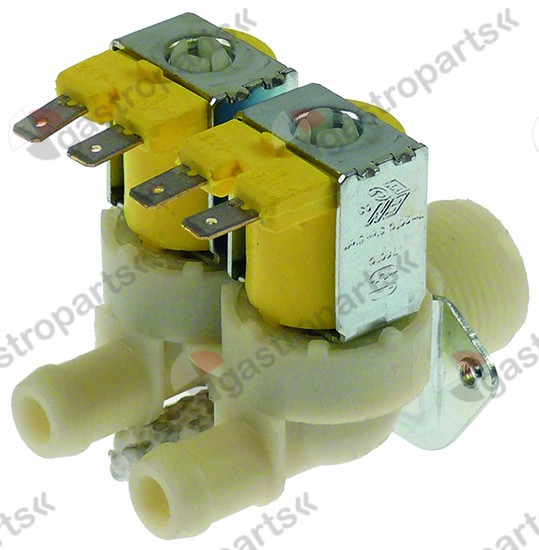 370.111, solenoid valve double straight 24V voltage AC inlet 3/4