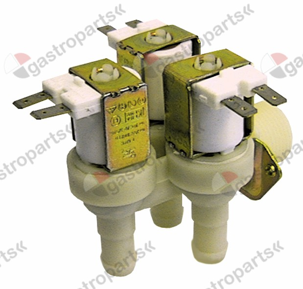 370.114, solenoid valve triple angled 24V voltage AC inlet 3/4 outlet 14mm DN10