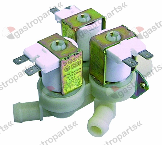 370.116, solenoid valve triple straight 24V voltage AC inlet 3/4