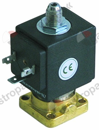 370.125, solenoid valve 3-ways 24VDC DN 2,5mm slide-on receptacle DIN -10 up to 140°C ODE