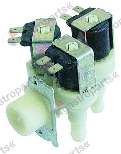 370.138, Replaced by 370023 / 371052 / solenoid valve triple angled inlet 3/4