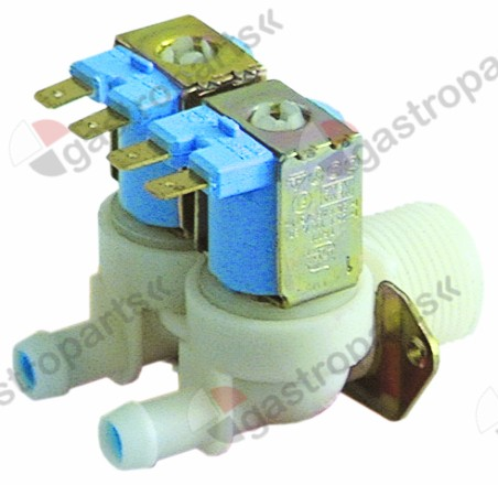 370.157, solenoid valve double straight 230V inlet 3/4