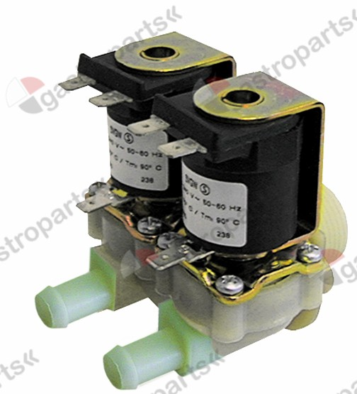 370.158, solenoid valve double straight 230V inlet 3/4