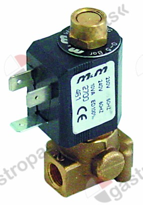 370.165, No longer available / solenoid valve brass 2-ways 230 VACconnection 1/8