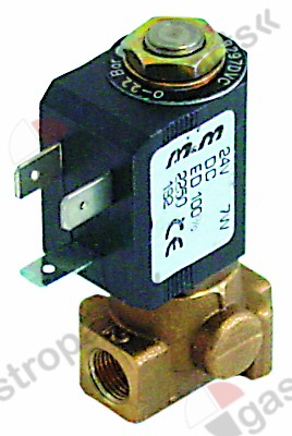 370.167, solenoid valve 2-ways 24VDC connection 1/8