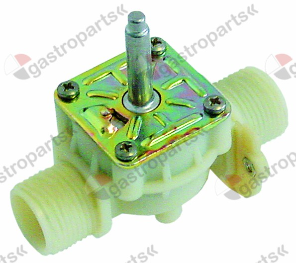370.179, solenoid valve body single straight 230V inlet 3/4