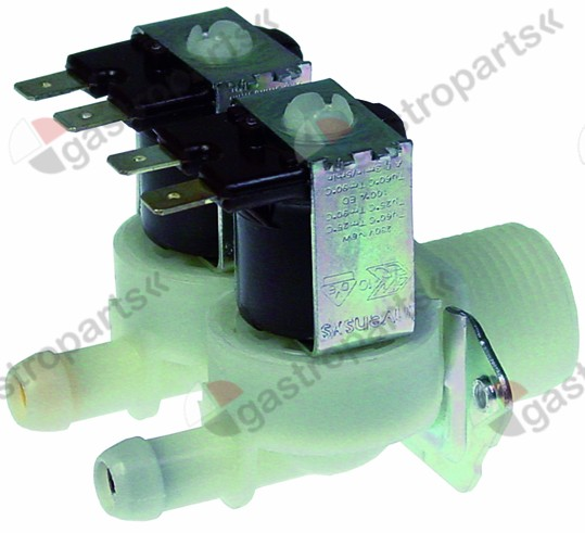 370.183, solenoid valve double straight 230V inlet 3/4
