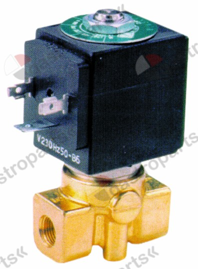 370.208, solenoid valve 2-ways 230 VAC connection 1/8