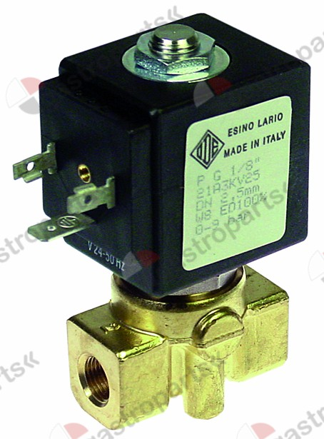 370.209, solenoid valve 2-ways 24 VAC connection 1/8