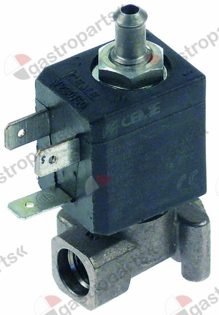 370.214, solenoid valve 3-ways 230 VAC connection 1/8