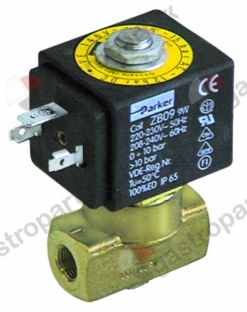 370.218, solenoid valve 2-ways 24VDC connection 1/8