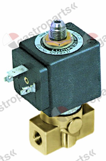 370.222, solenoid valve 3-ways 230 VAC connection 1/8
