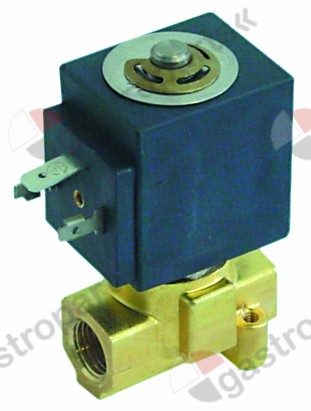 370.228, solenoid valve 2-ways 230 VAC connection 1/4