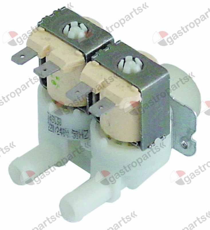 370.315, solenoid valve double straight 230V inlet 3/4