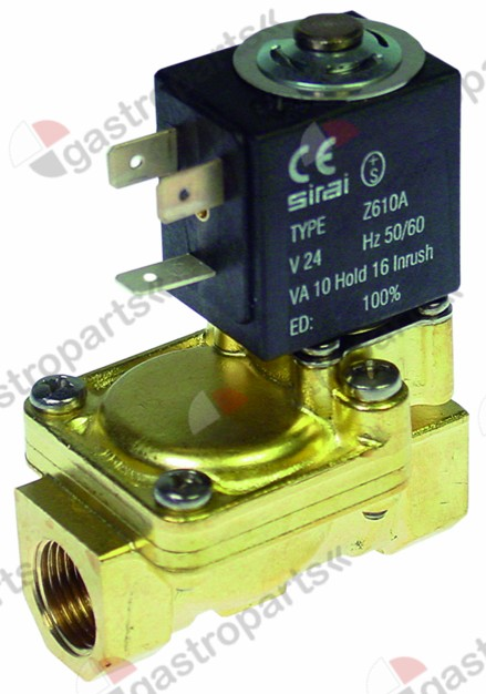 370.328, solenoid valve 2-ways 24 VAC connection 3/8