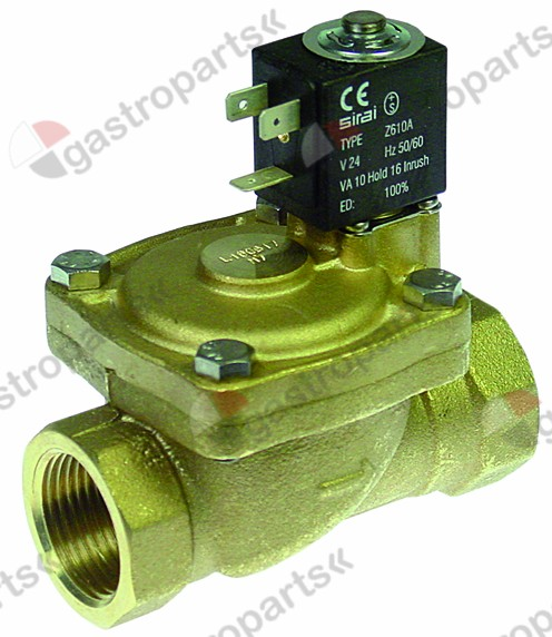 370.330, solenoid valve 2-ways 24 VAC connection 1