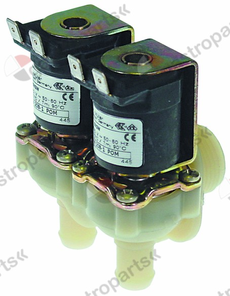 370.331, solenoid valve double angled 230V inlet 3/4