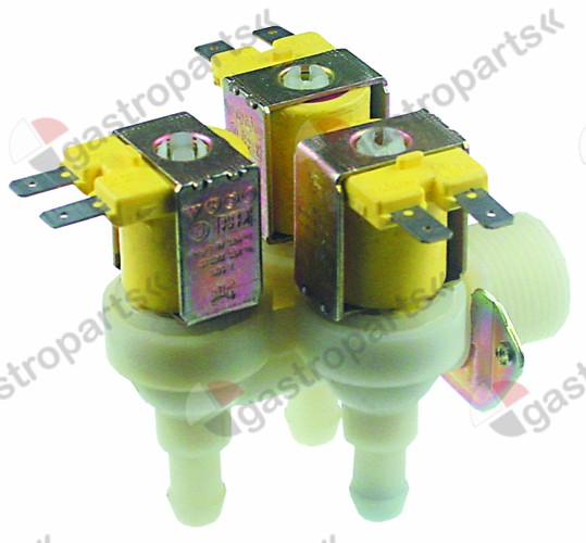 370.347, Replaced by 370113 / 371234 / solenoid valve triple angled 24V inlet 3/4