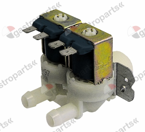 370.359, solenoid valve double straight 230V inlet 3/4
