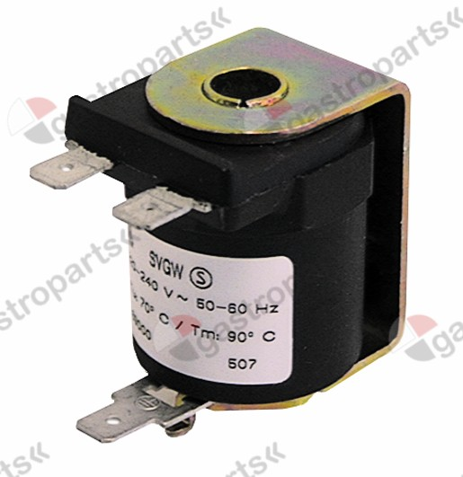371.017, solenoid coil MÜLLER 230V voltage AC connection male faston 6.3mm