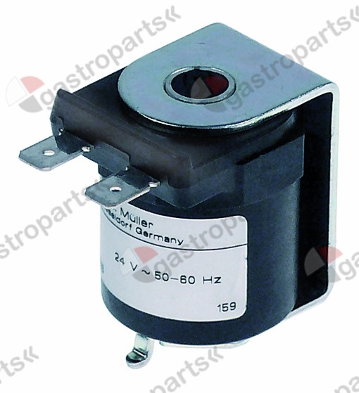 371.037, solenoid coil 24V voltage AC 50/60Hz connection male faston 6.3mm