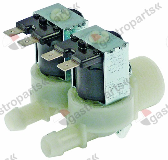 372.021, solenoid valve double straight 230V inlet 3/4