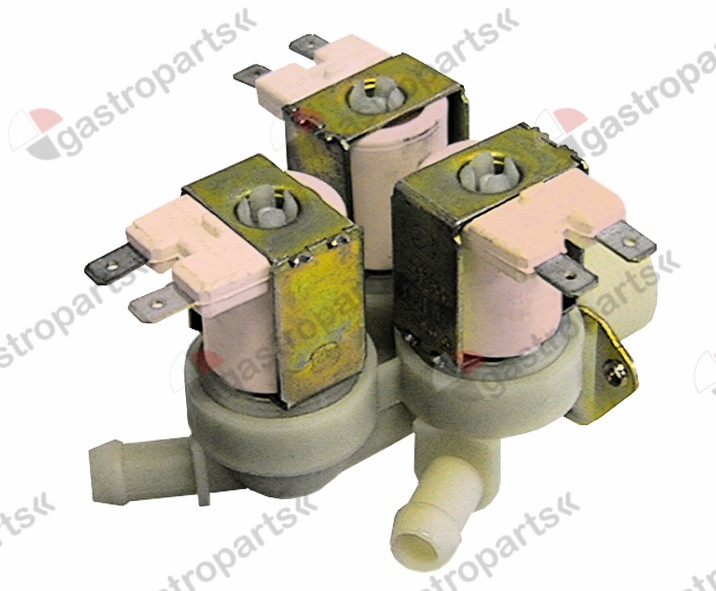 372.026, No longer available / solenoid valve triple straight 230V inlet 3/4
