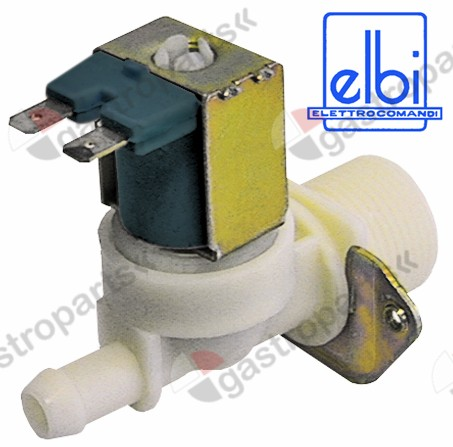 373.017, solenoid valve single straight 230V inlet 3/4