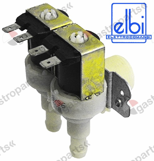 373.019, solenoid valve double angled 230V inlet 3/4