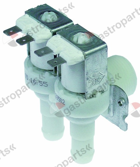 373.020, solenoid valve double angled 230V inlet 3/4