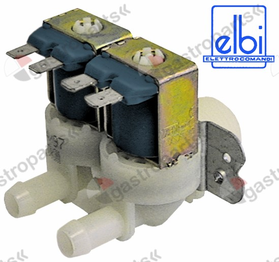 373.021, solenoid valve double straight 230V inlet 3/4