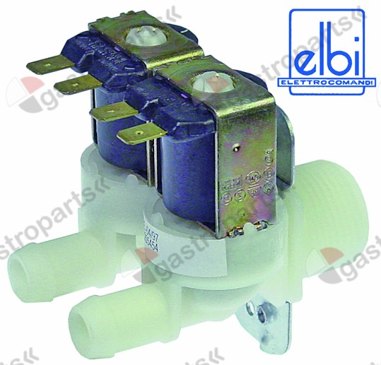 373.022, solenoid valve double straight 230V inlet 3/4